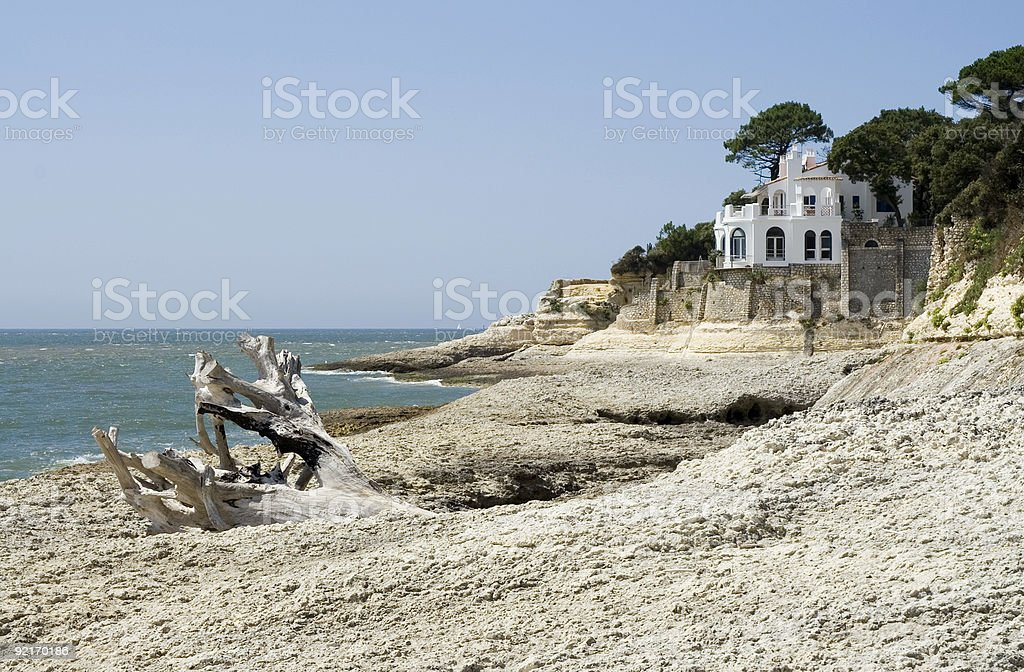 oceanfront mansion 2 royalty-free stock photo