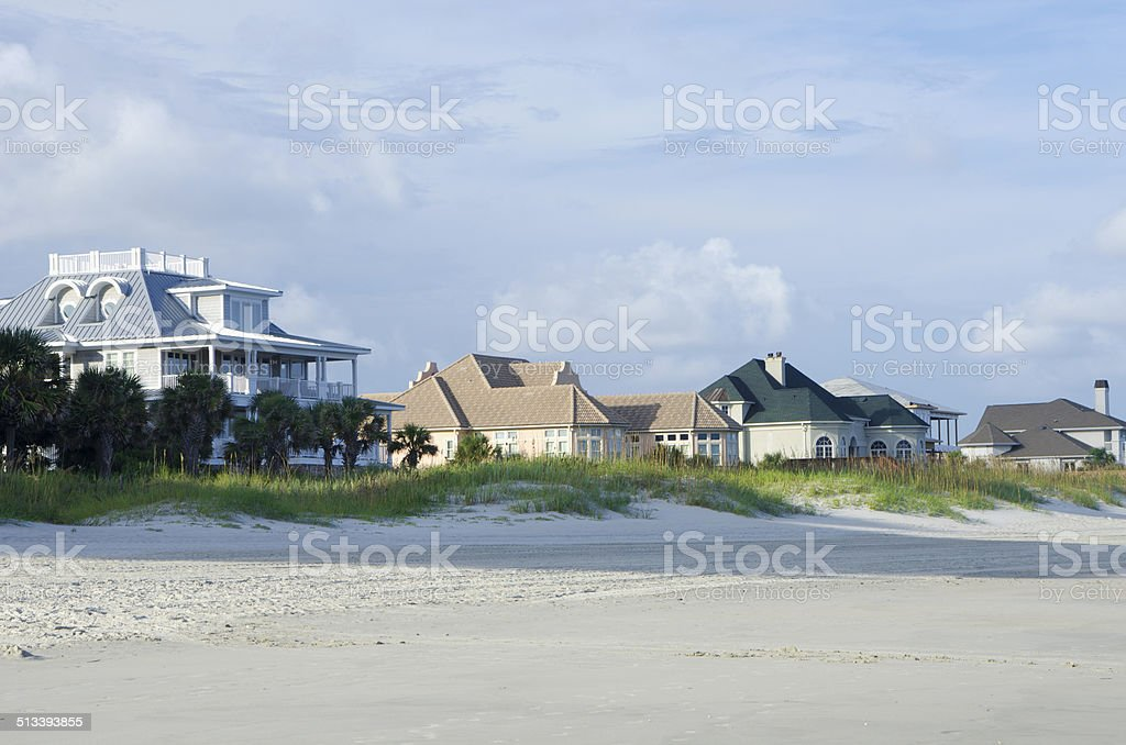 Oceanfront Real Estate stock photo