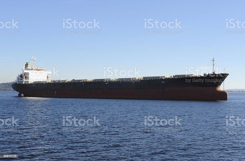 Oceangoing Freighter stock photo