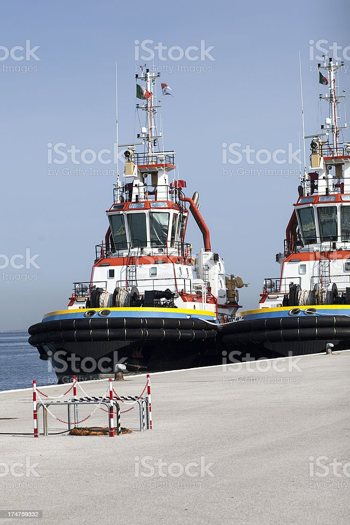Ocean-going tugs at Chioggia, Italy royalty-free stock photo