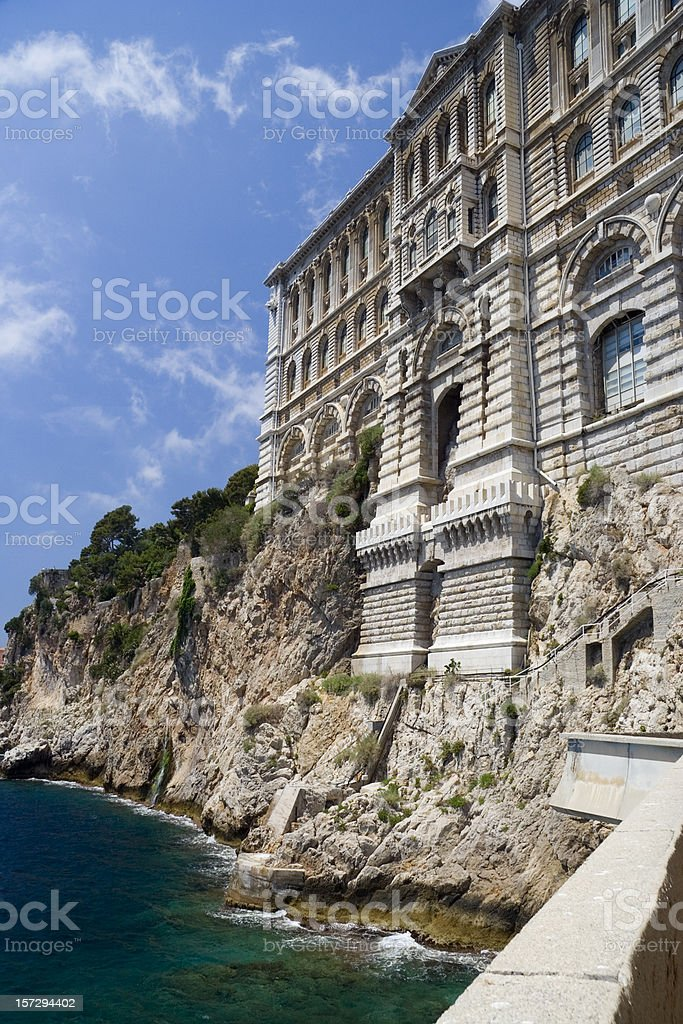 Oceanographic Museum Monaco stock photo