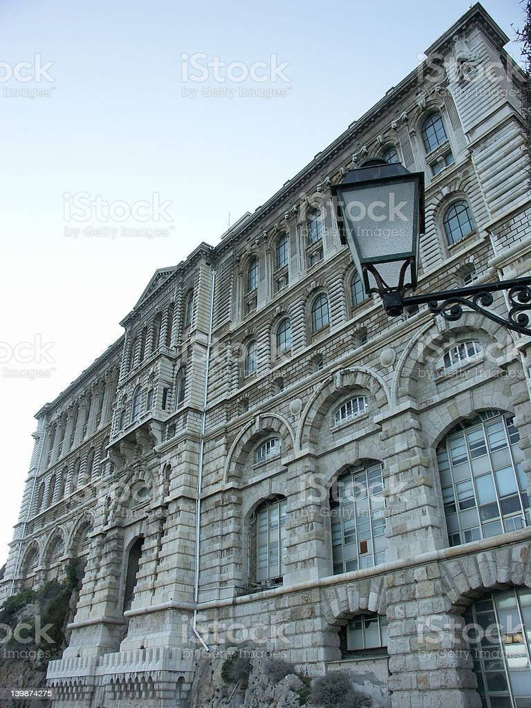 Oceanographic museum of Monaco stock photo