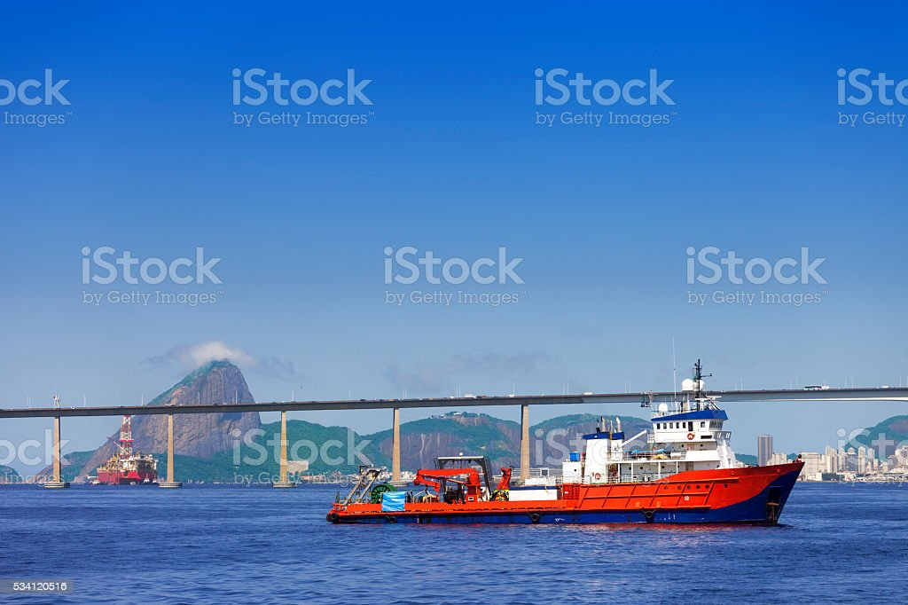 Oceanographic research ship stock photo