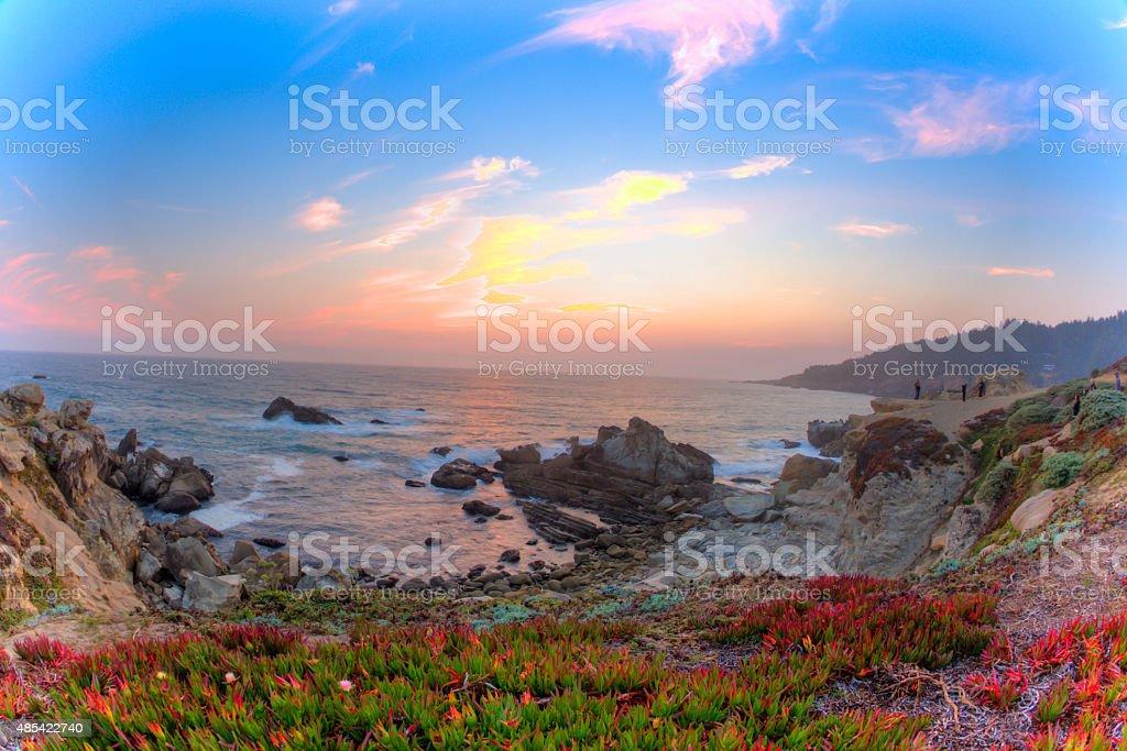 Ocean's Cove, Sonoma County, Northern California stock photo