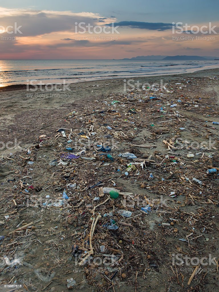 Oceans Pollution stock photo