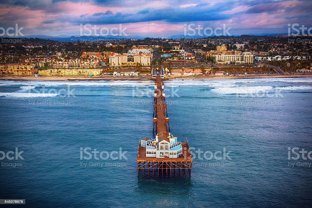 Oceanside Pier North of San Diego California stock photo