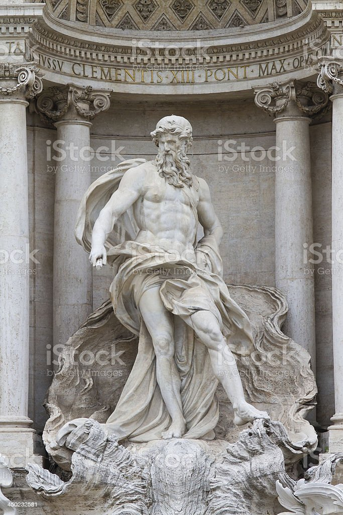 Oceanus in the Fontana di Trevi stock photo