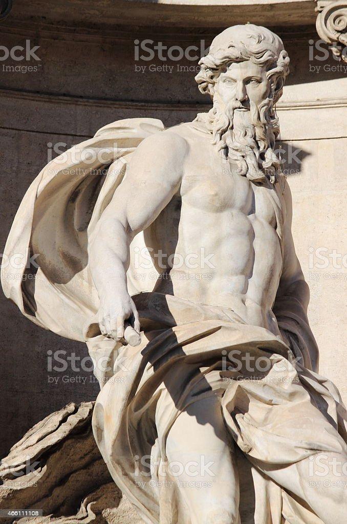 Oceanus in the Trevi Fountain stock photo