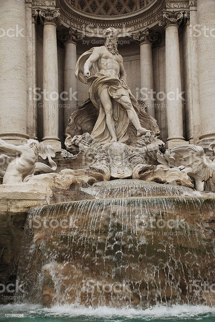 Oceanus Statue in the Trevi Fountain royalty-free stock photo