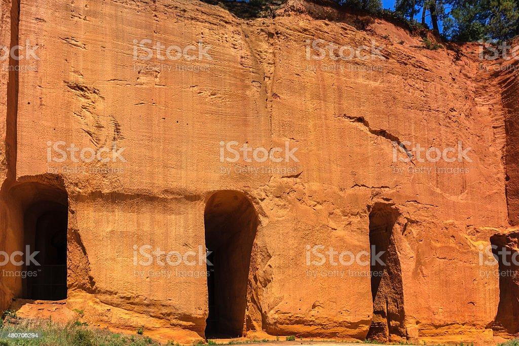 Ocher quarry - France stock photo
