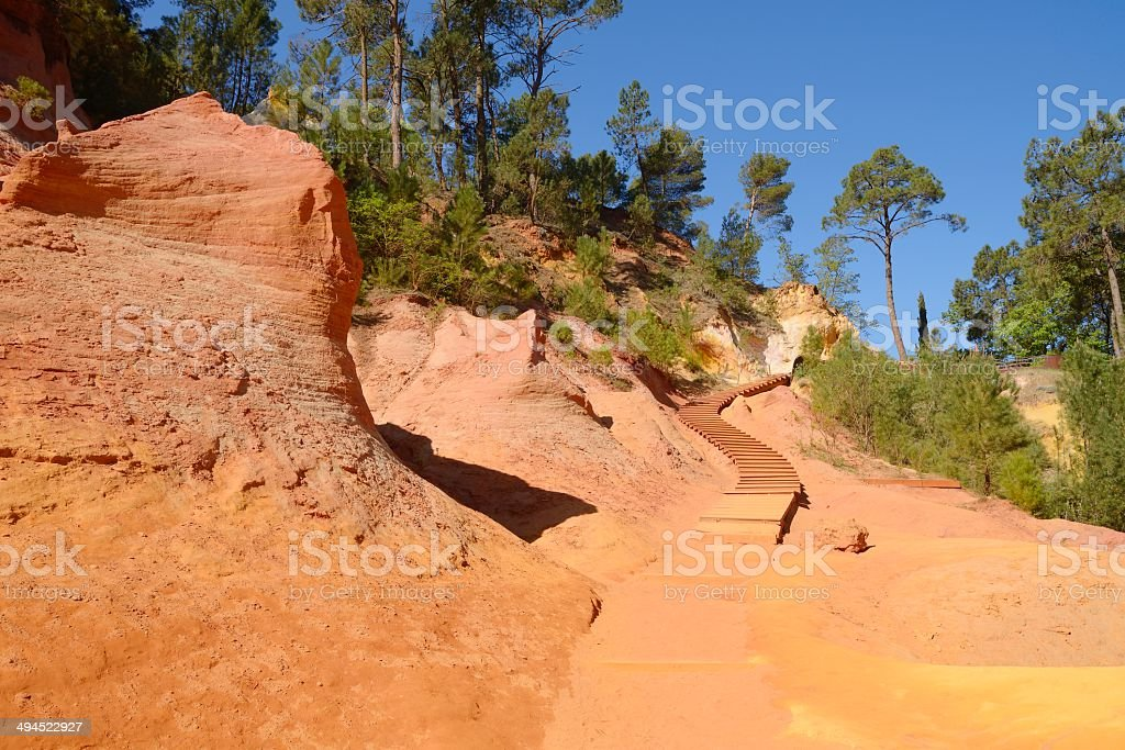 Ocher - Roussillon, Provence, France stock photo