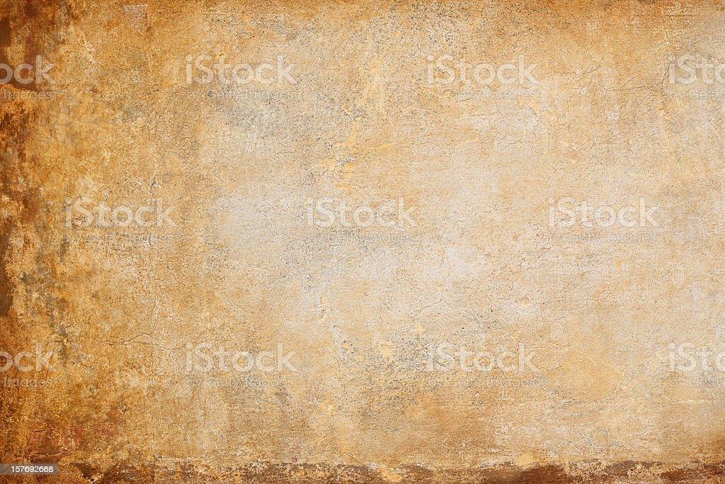 Ocher yellow Roman wall texture, Rome Italy royalty-free stock photo