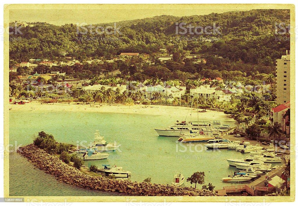 Ocho Rios Postcard stock photo