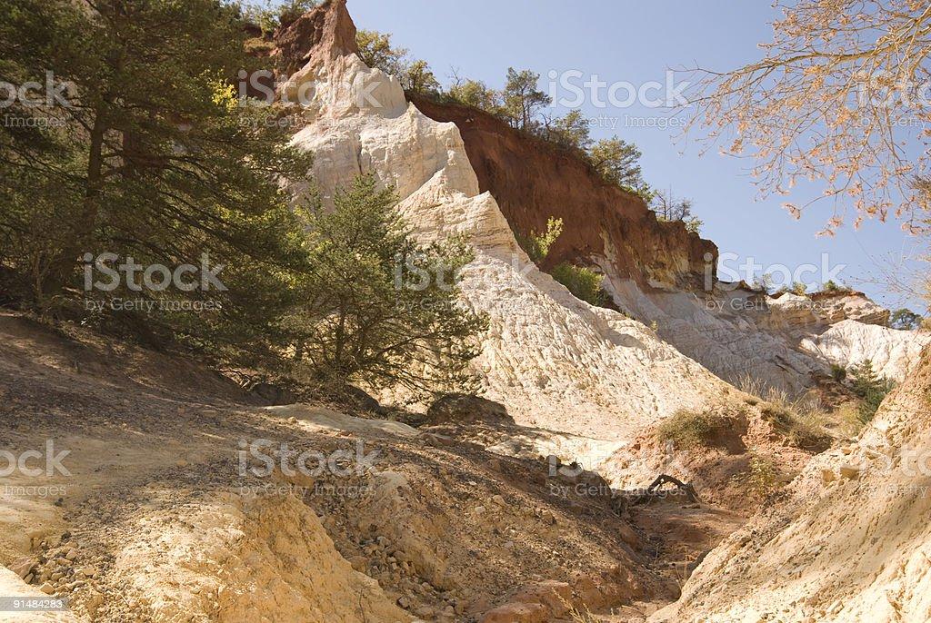Ochre quarries stock photo