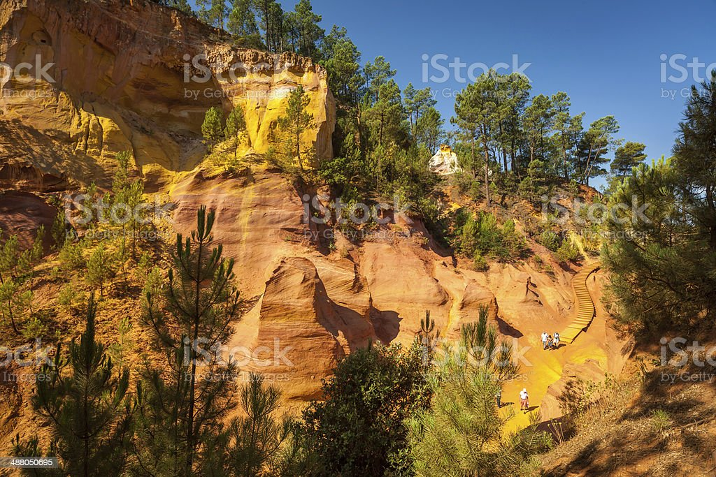 Ocres de Roussillon, Vaucluse, Provence, France stock photo