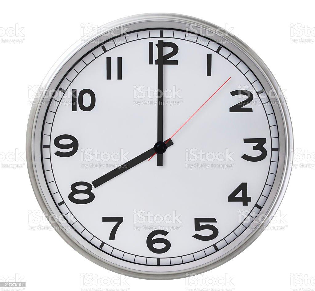 8 o'clock stock photo