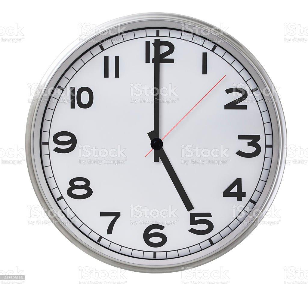 5 o'clock stock photo