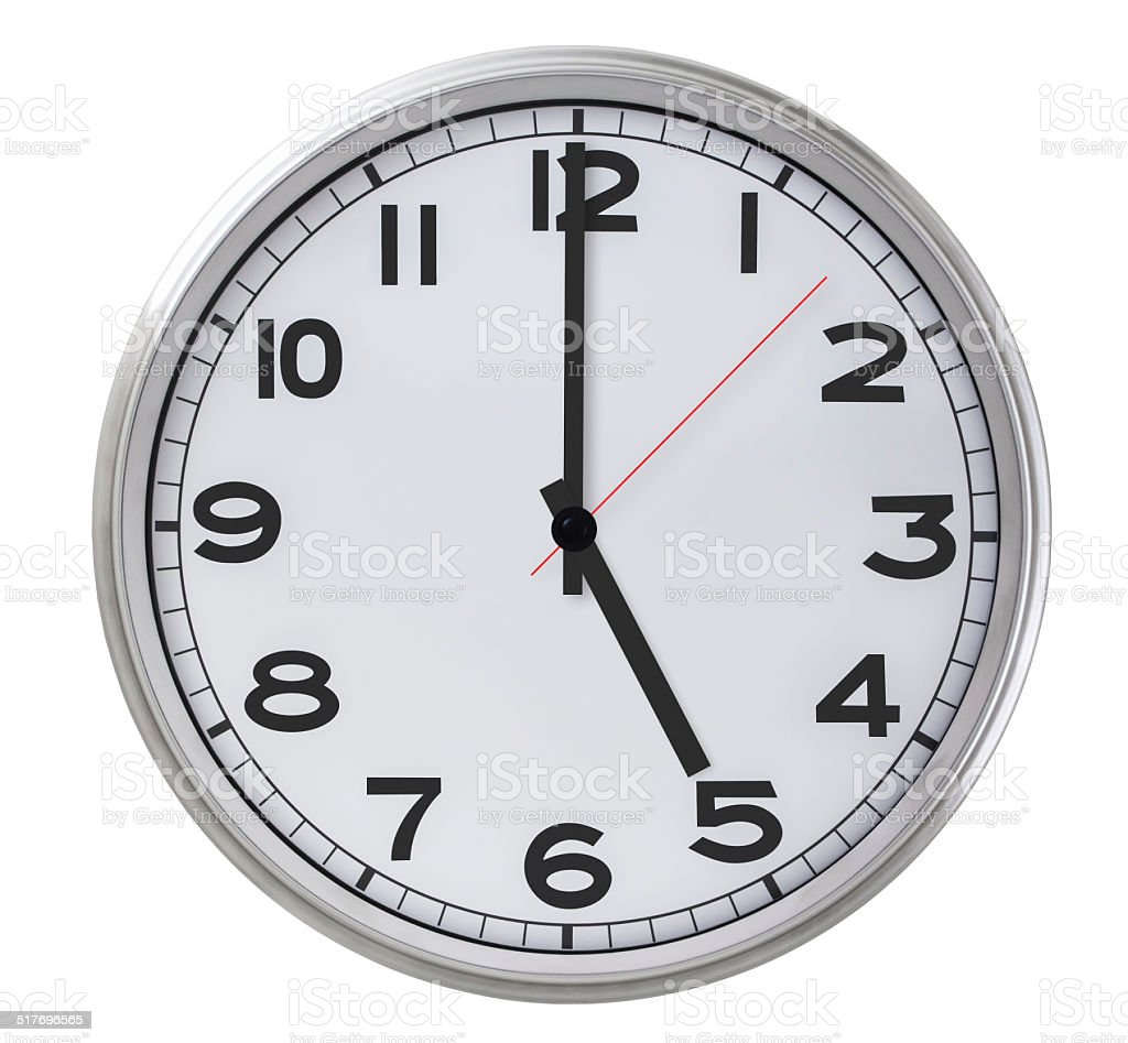 5 o'clock stock photo