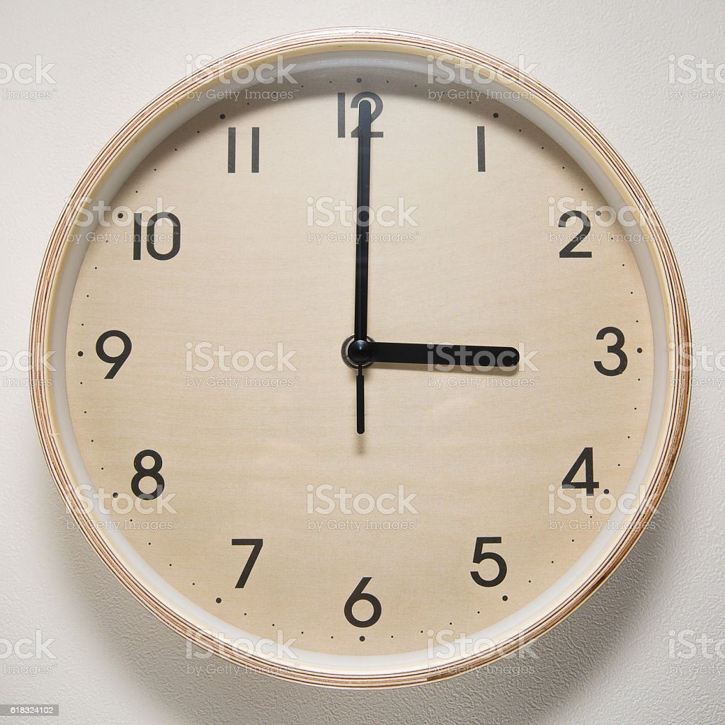 3, 3 o`clock, time, clock, watch, white background, stock photo