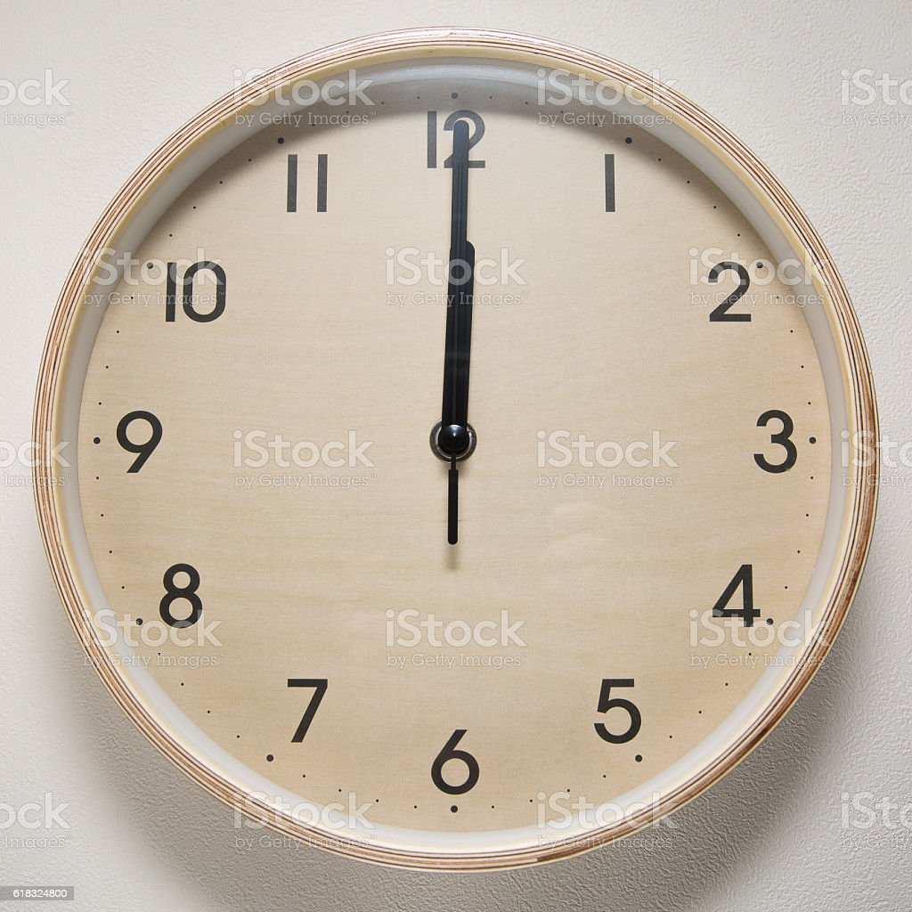 12, 12 o`clock, time, clock, watch, white background, stock photo