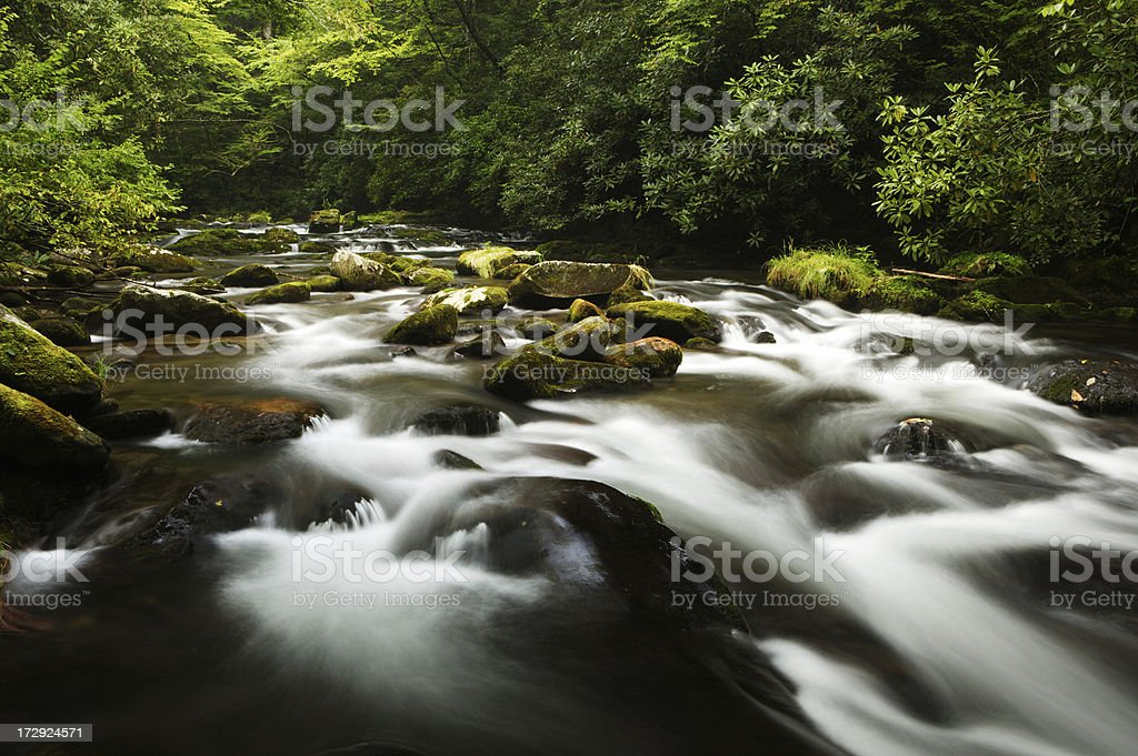 Oconoluftee River royalty-free stock photo