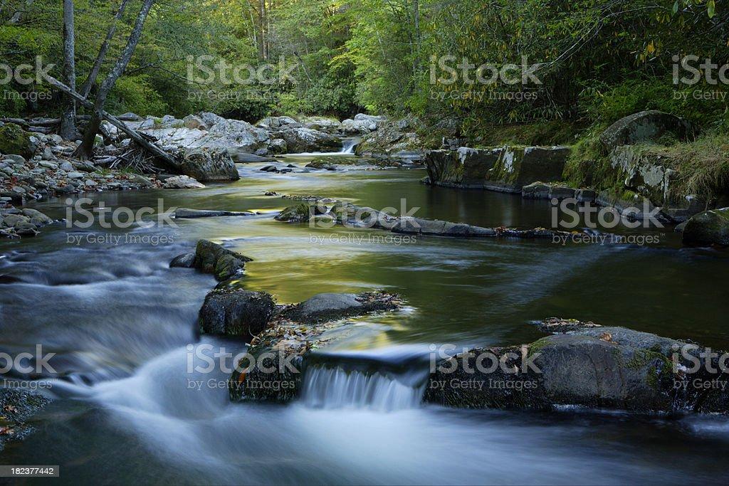 Oconoluftee River stock photo