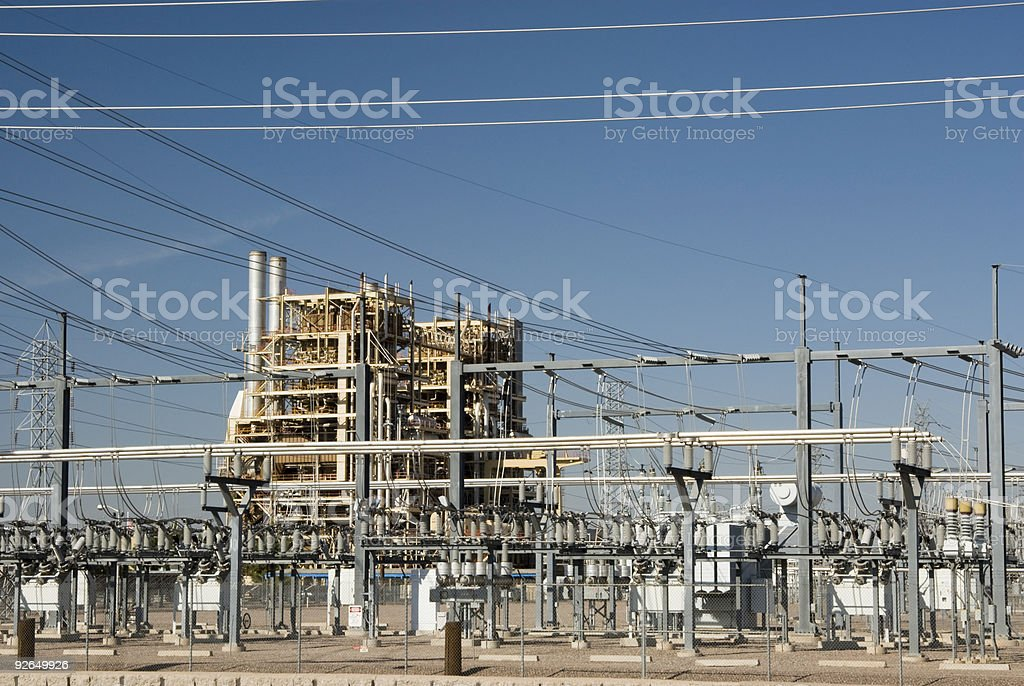 Ocotillo Power Plant 4 royalty-free stock photo