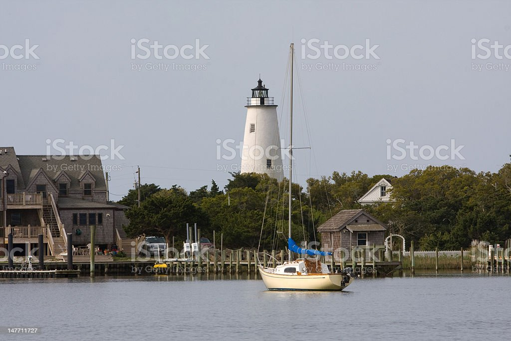 Ocracoke Island Harbor stock photo