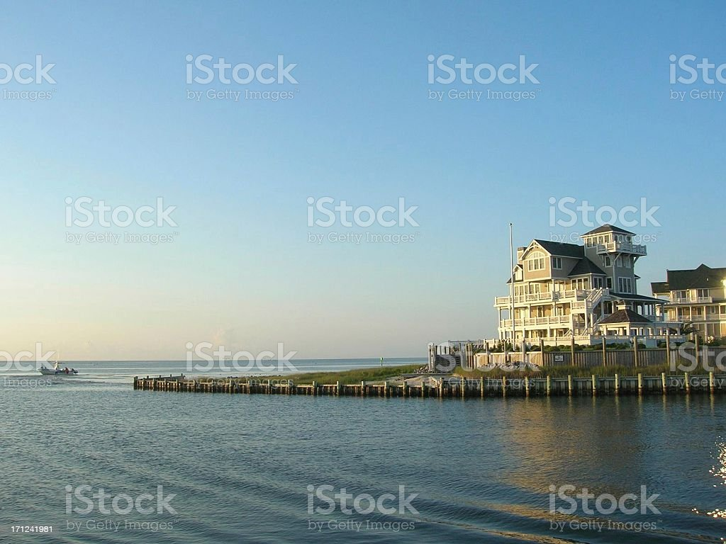 Ocracoke Island Housing stock photo