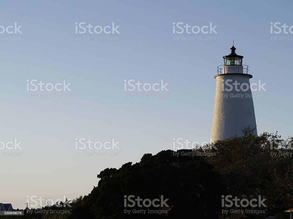Ocracoke Lighthouse stock photo