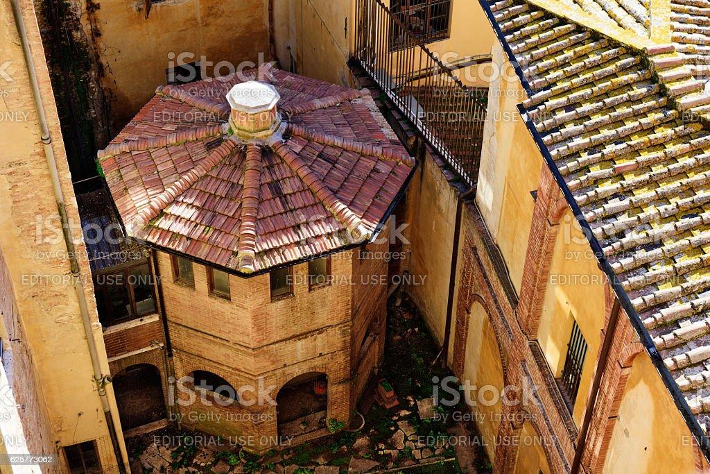 Octagonal building in Siena, Italy stock photo