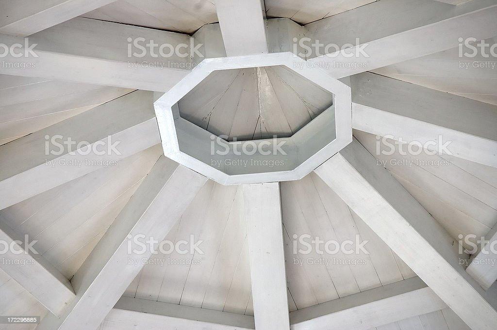 octagonal roof stock photo