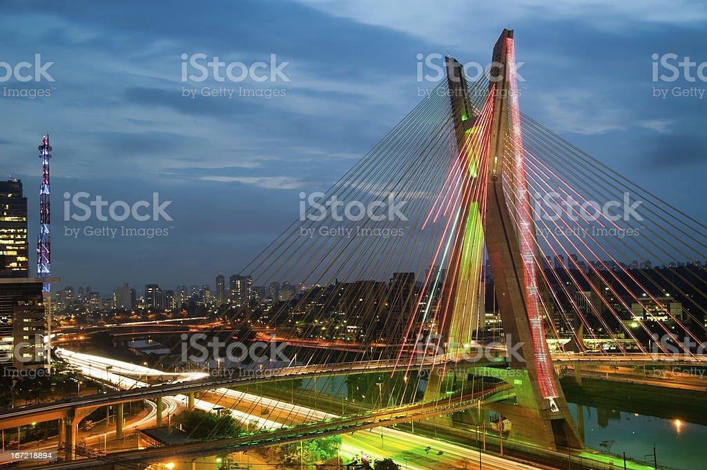 Octavio Frias De Oliveira Bridge, Brazil stock photo