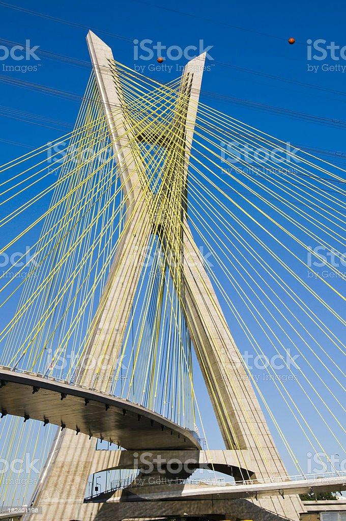 Octavio Frias de Oliveira Bridge Over Pinheiros River, Sao Paulo stock photo