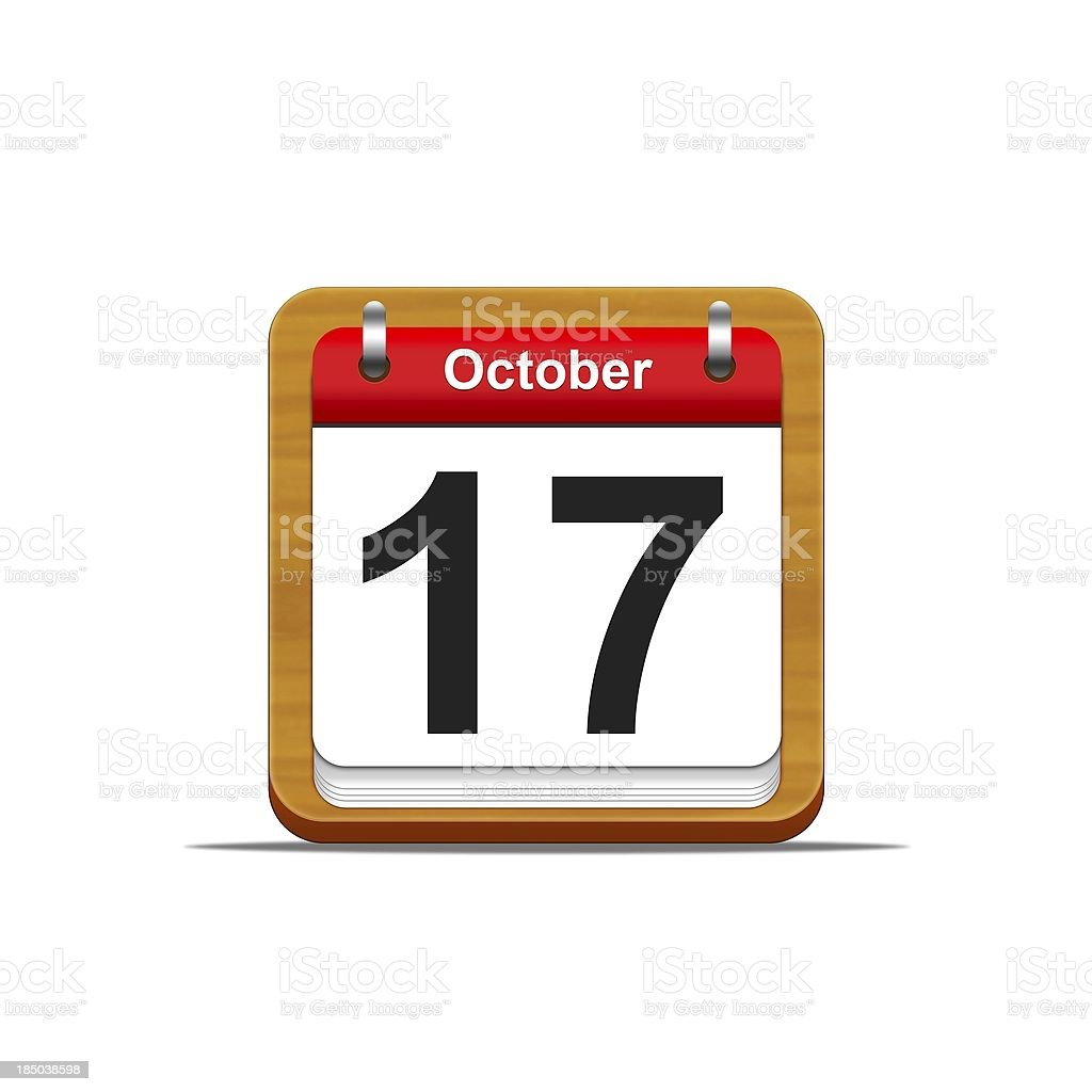 October 17. stock photo