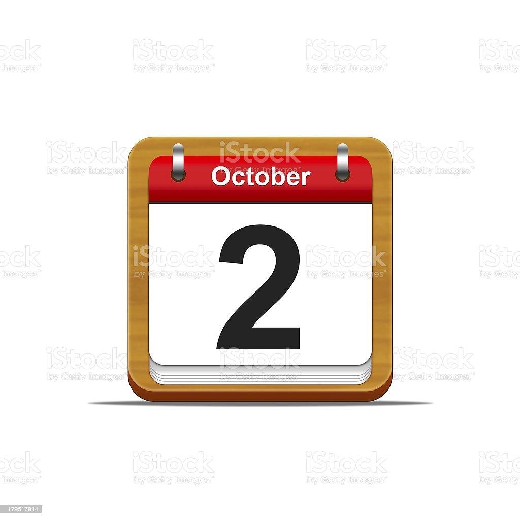 October 2. royalty-free stock photo