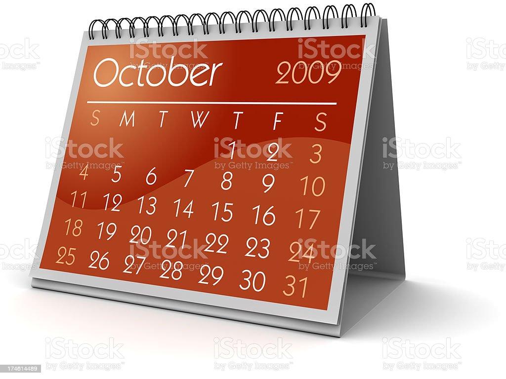 October 2009 royalty-free stock photo