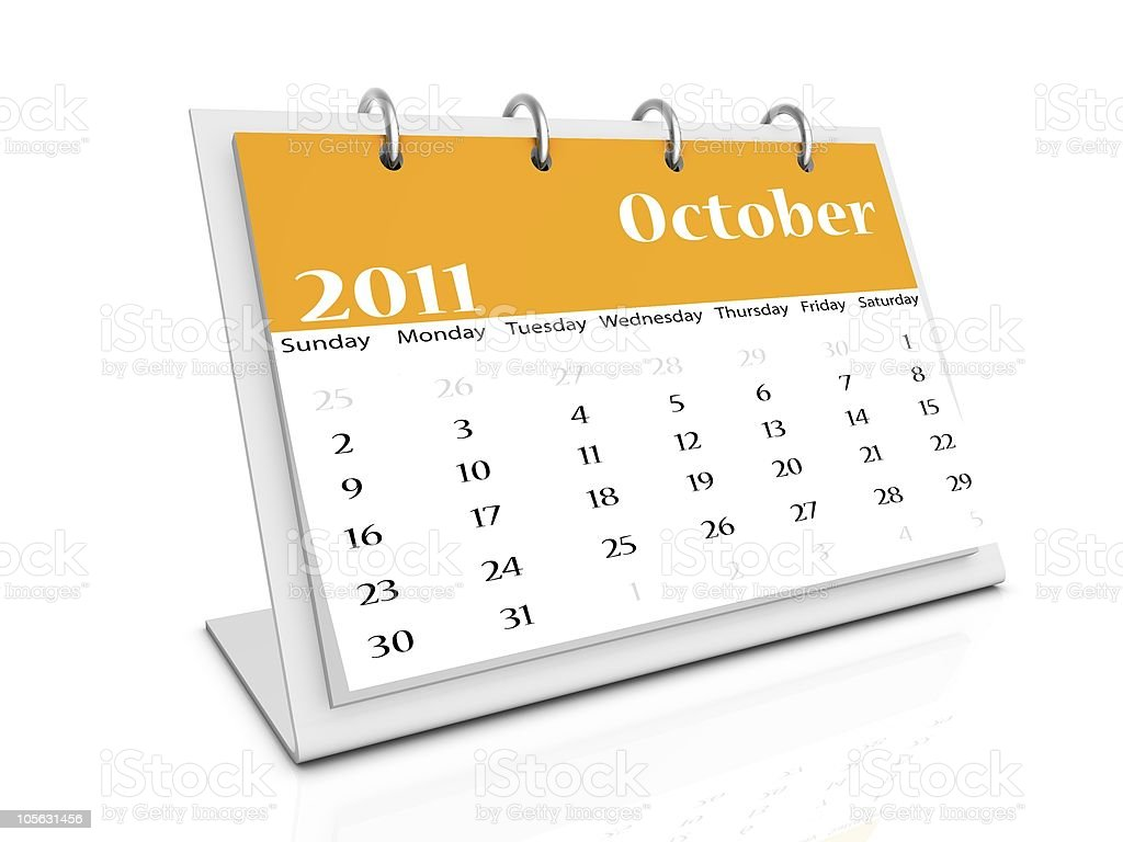 october 2011 royalty-free stock photo