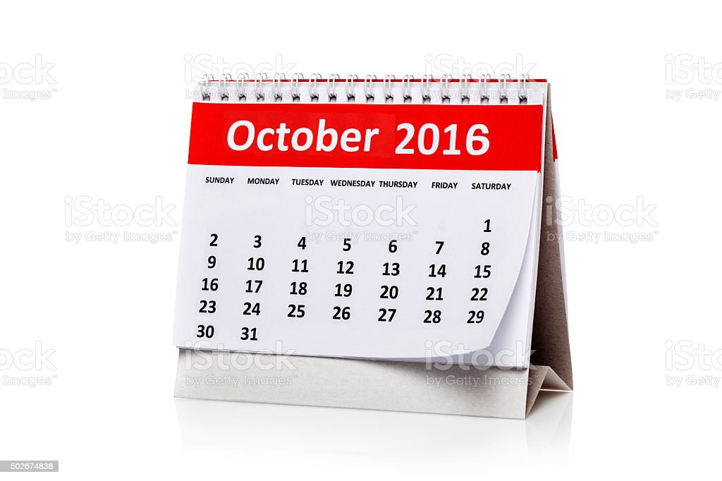 October 2016 stock photo
