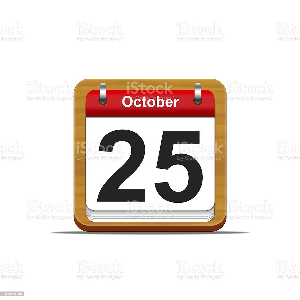 October 25. royalty-free stock photo