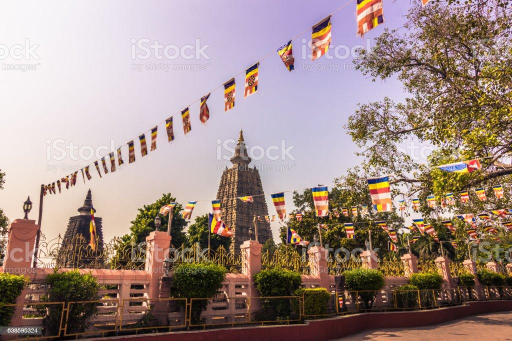 October 30, 2014: The Mahadobhi temple in Bodhgaya, India stock photo