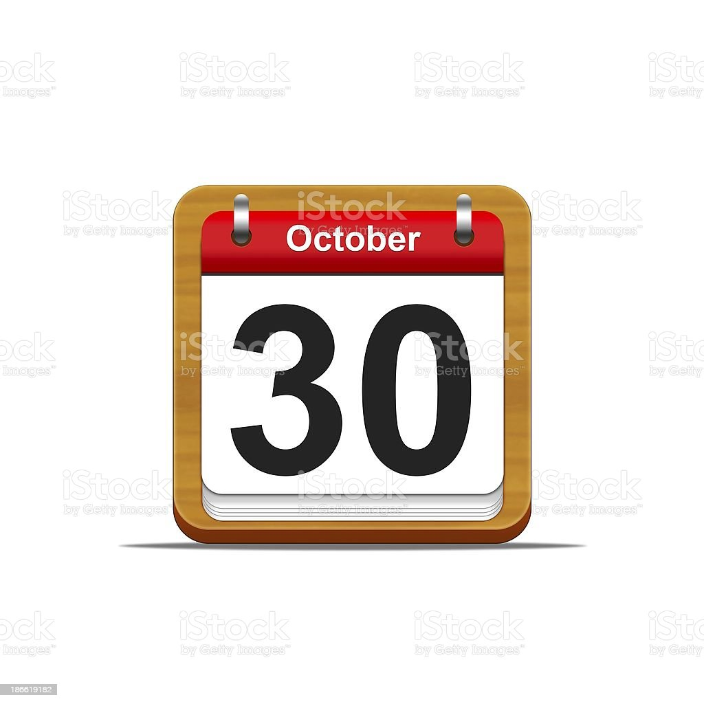 October 30. royalty-free stock photo