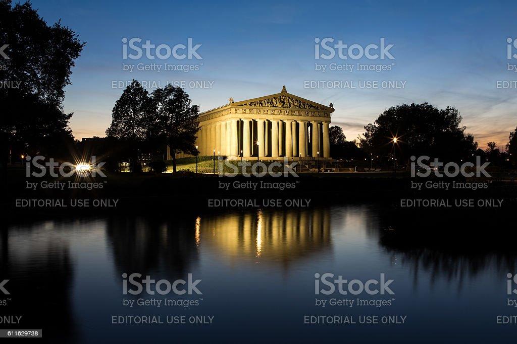 October 7, 2015 - The Parthenon in Nashville, TN stock photo