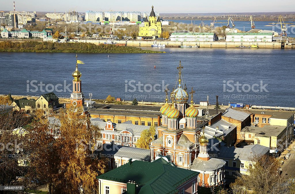 October autumn view of colorful Nizhny Novgorod Russia stock photo