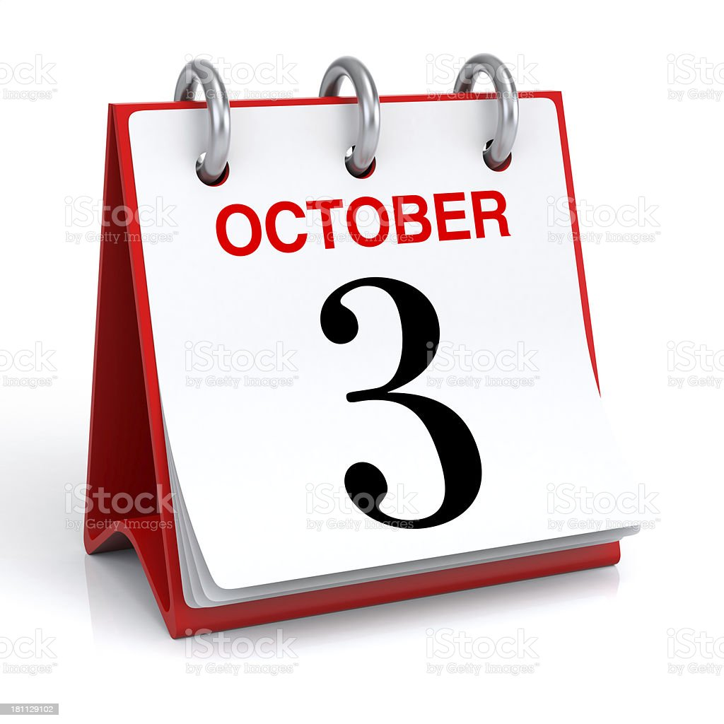 October Calendar stock photo