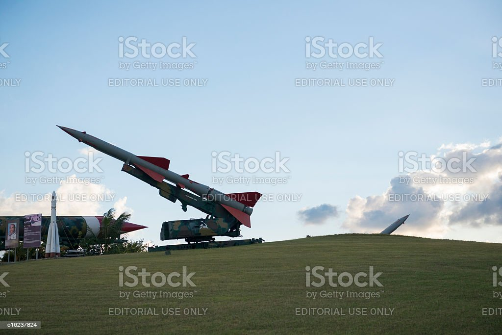 October Cuban Missile Crisis display in Havana, Cuba stock photo