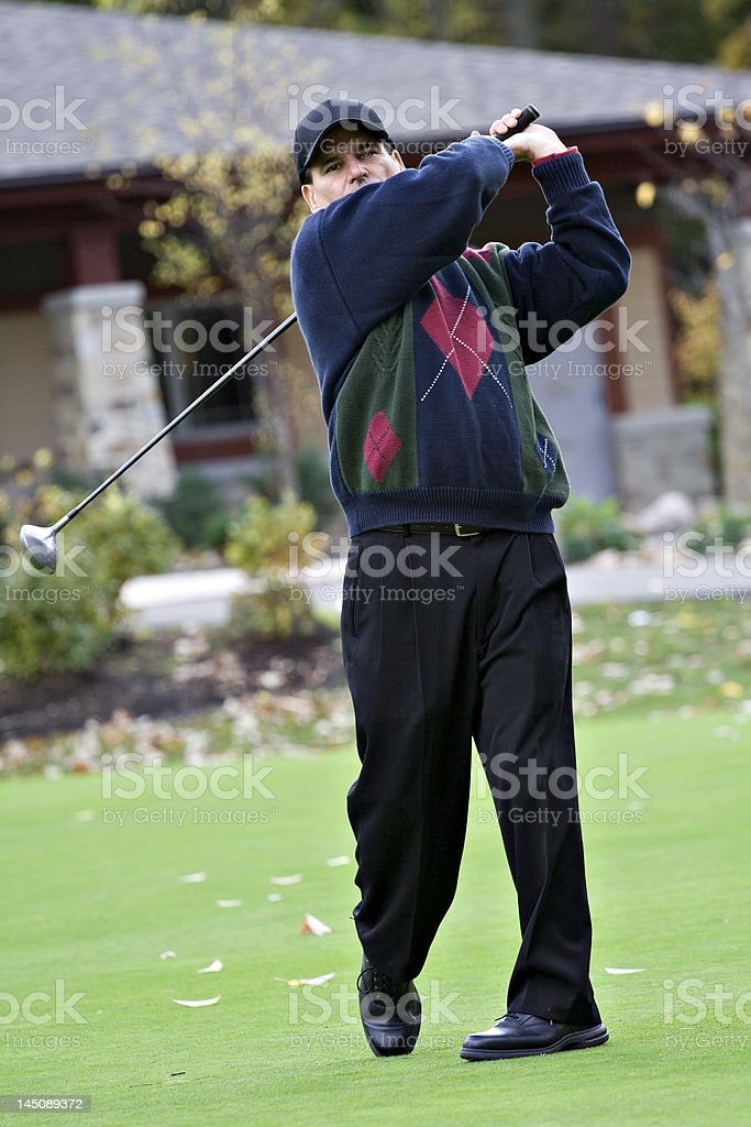 October Golfer royalty-free stock photo