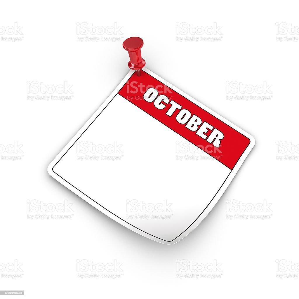 October royalty-free stock photo