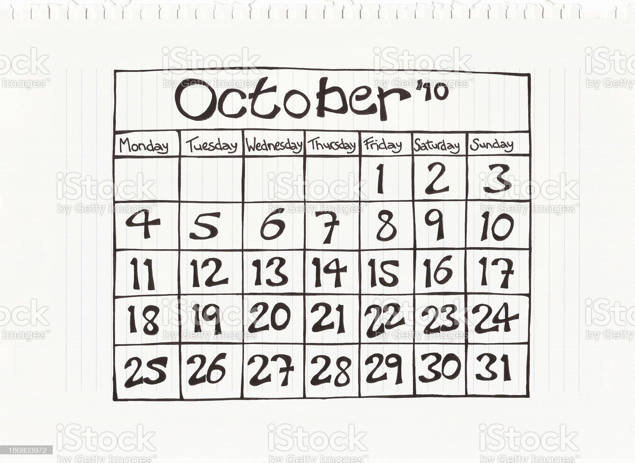 October Zero Ten royalty-free stock photo