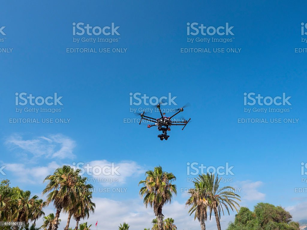 Octocopter stock photo